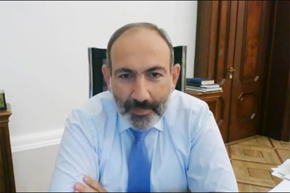 Prime Minister Nikol Pashinyan during his Fabook Live chat on August 12