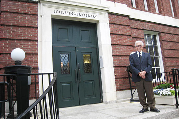 Hagop Sarkissian at Harvard's Schlesinger Library