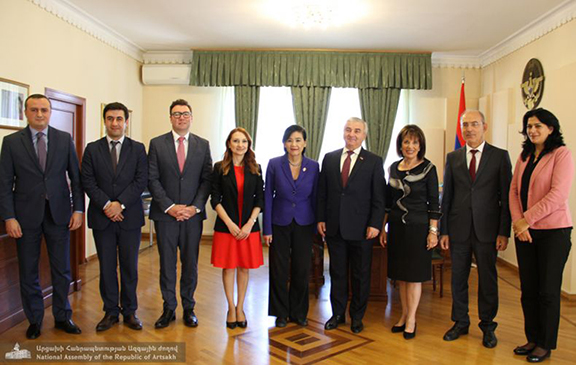 Rep, Jackie Speier and Judy Chu with Artsakh Parliament Speaker Ashot Ghulyan