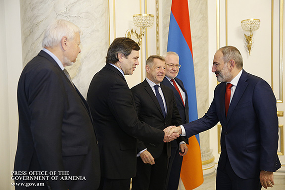 OSCE Minsk Group co-chairmen with with Prime Minister Nikol Pashinyan
