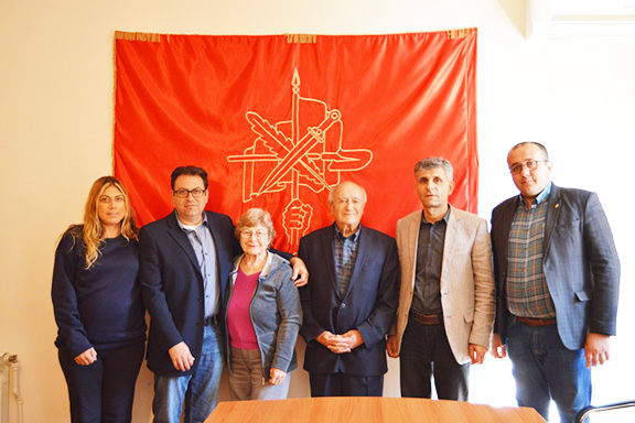 Benefactors Vartan and Sona Fundukian with members of the ARF Central Committees of Western U.S. and Artsakh