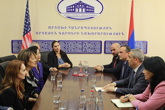 Representatives Jackie Speier and Judy Chu meet with Artsakh Foreign Minister Masis Mayilyan