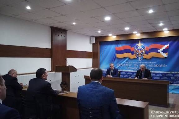 Artsakh President Bako Sahakian meets with the National Security Service