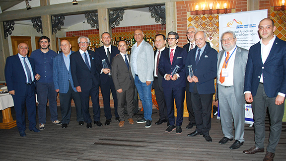 2019 ATN Global Armenian Business Awards recipients and honored guests
