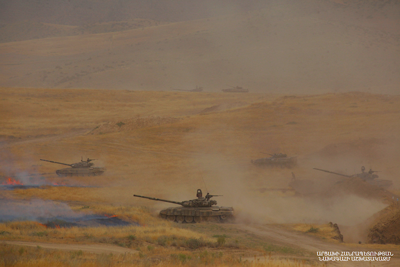 Artsakh Armed Forces stage military exercises at Tigranakert