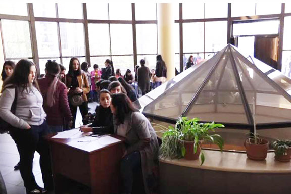 Students at Yerevan State University protest against Education Ministry initiatives