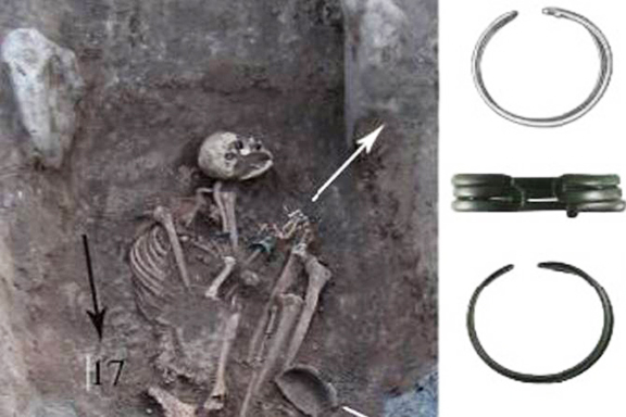 The remains of what is believed to be a female Armenian warrior 2,600 years ago