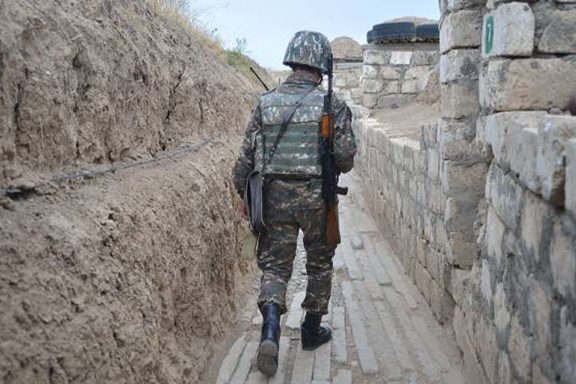 An Artsakh Army soldier