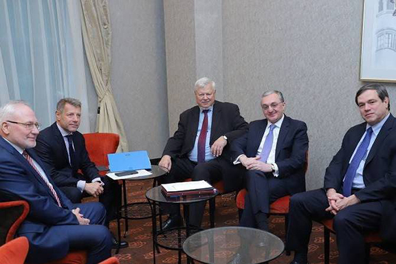 OSCE Minsk Group Co-chairs met with Armenia's Foreign Minister Zohrab Mnatsakanyan in December, 2019