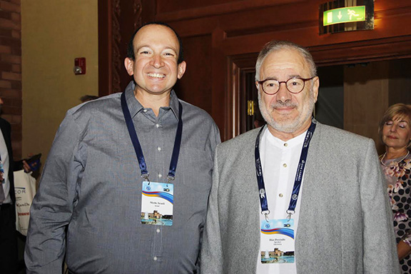 From left to right: Dr. Moshe Israeli (Israel) and Dr. Ilias Doxiadis (Germany)