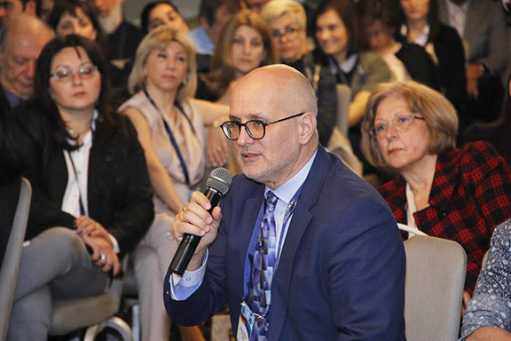 EFI President Dr. Joannis Mytilineos during a Q&A session