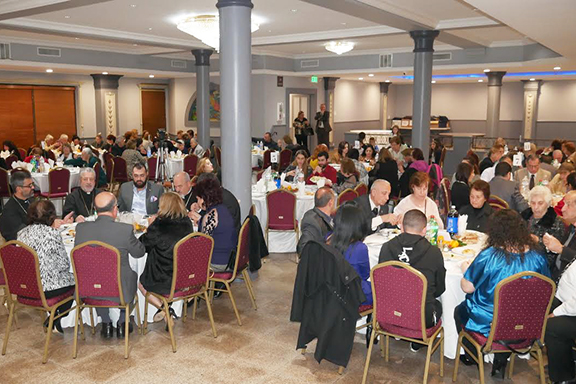 A scene from the Armenian Ecclesiastical Brotherhood's Thanksgiving dinner