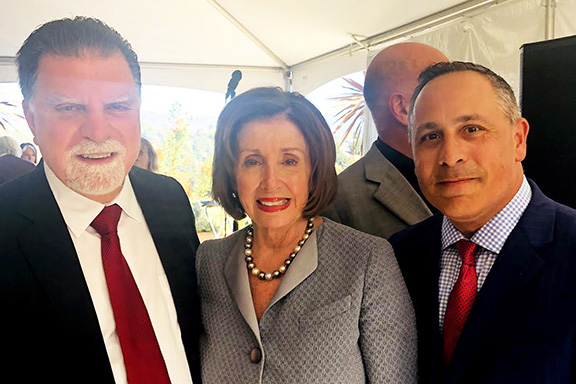 U.S. House Speaker Nancy Pelosi (D-CA) with ANCA Chairman Raffi Hamparian and long-time ANCA advocate Mike Mahdesian following passage of the Armenian Genocide Resolution (H.Res.296)