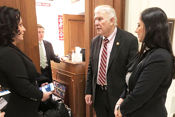 The ANCA's Tereza Yerimyan with author and human rights advocate Anna Astvatsaturian Turcotte, who shared her story of survival of the Baku pogroms with House Foreign Affairs Committee Member Steve Chabot (R-OH).  Rep. Chabot serves as Co-Chair of the Congressional Turkey Caucus