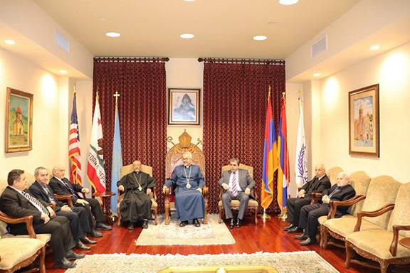 Members of the Armenian Ecclesiastical Brotherhood paid their annual New Year visit to the Prelacy on Jan. 22