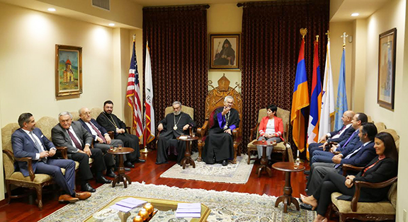 During the visit, Prelate Mardirossian reaffirmed the Prelacy's support of Artsakh