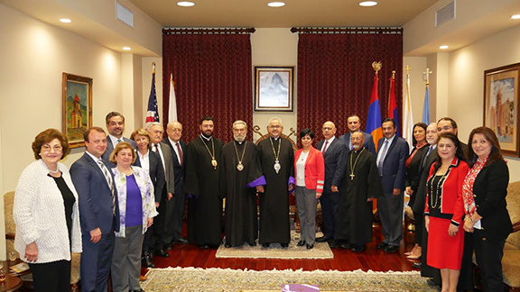 The Artsakh Delegation with representatives of the Prelacy