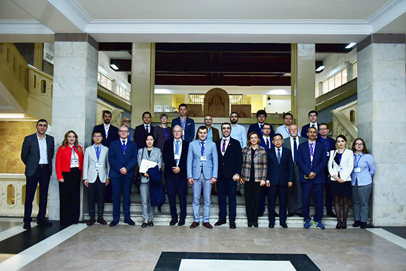 """Keynote speakers and participants of Yerevan State University's second """"Eurasian Research on Modern China and Eurasia"""" conference"""