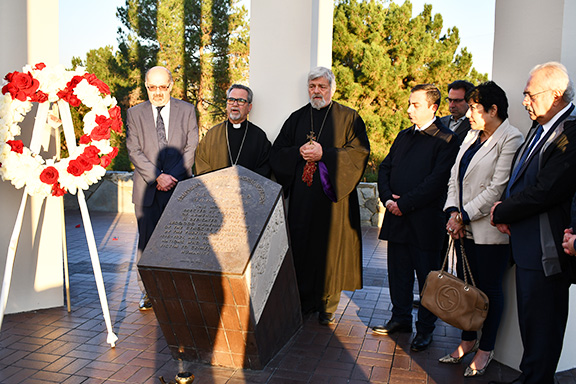VIEW GALLERY: ARF Supreme Council of Armenia Chairman at the Montebello Armenian Genocide Martyrs Monument