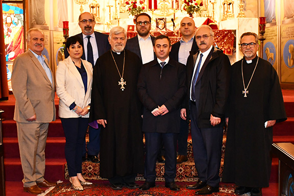 ARF Supreme Council of Armenia chairman visits Montebello's Holy Cross Armenian Cathedral