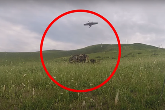 A combat drone produced in Artsakh (Photo by Artsakh Defense Ministry)