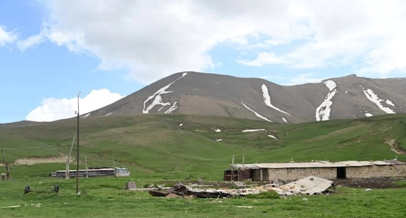 Armenia's Human Rights Defender's office released this image of an abandoned Armenian village in the Gegharkunik Province