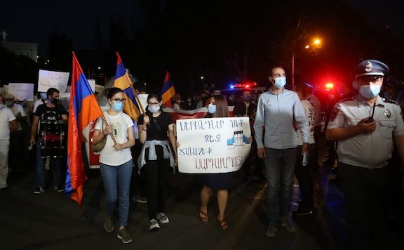 A scene from the ARF Youth march in Yerevan on Sept. 16