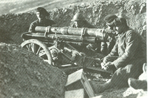 Armenian Legionnaires in the trenches during the Battle of Arara