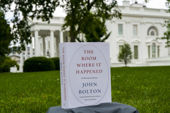 "A copy of John Bolton's book ""The Room Where it Happened"""