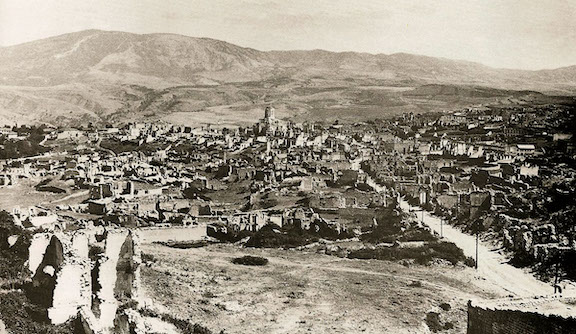 Ruins of Shushi after Azerbaijani army destroyed the city on March 23, 1920