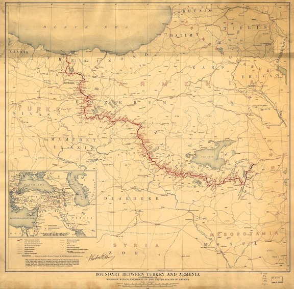 The boundaries of Armenia as envisioned by the Sevres Treaty
