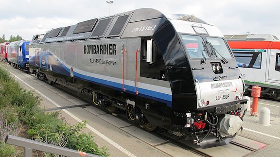 A Bombardier-produced train (Photo by Bengt from wikimedia)
