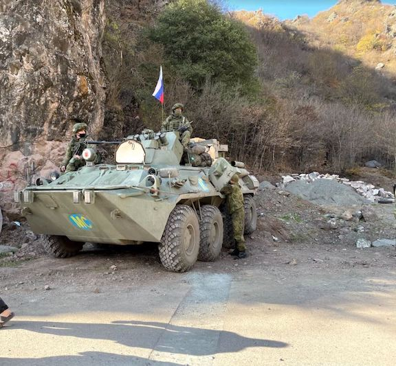 Russian peacekeepers stationed in Artsakh (Photo by Dickran Khodanian)