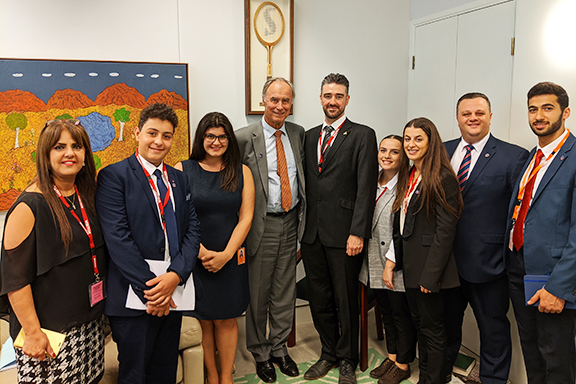 Australian lawmaker John Alexander with some of the Joint Justice Initiative advocates
